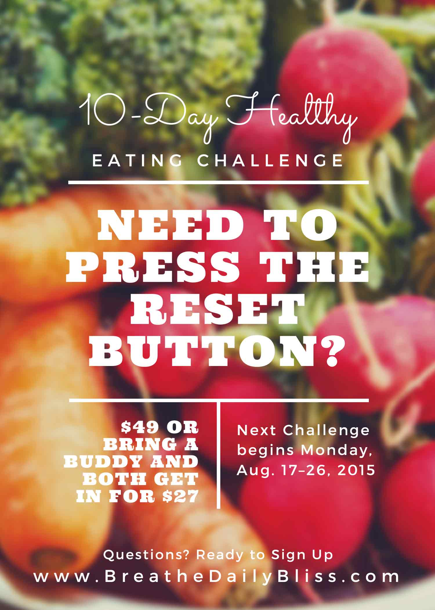 10 Day Healthy Eating Challenge Breathe Daily Bliss .